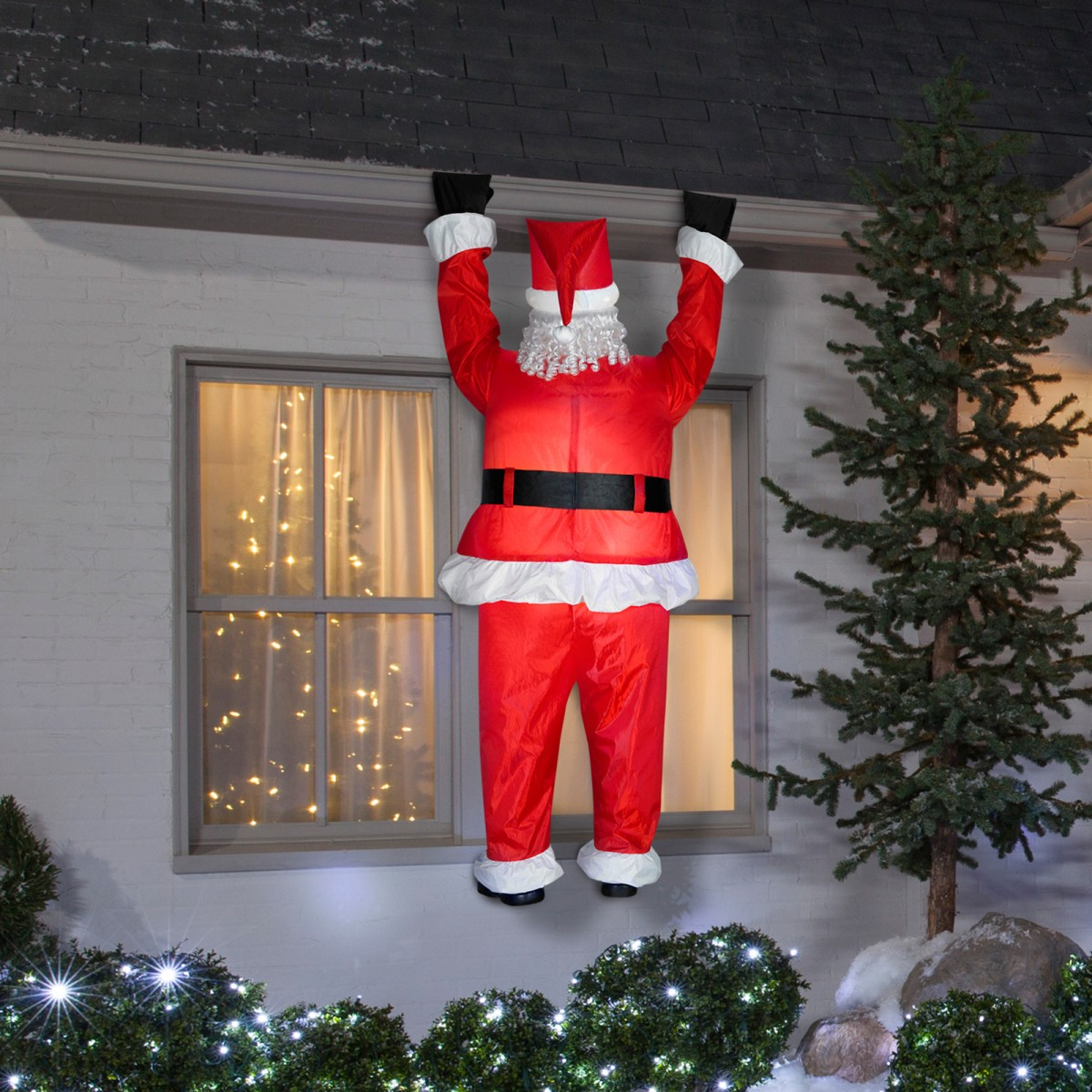 クリスマス 屋外 飾り 装飾 デコレーション ぶら下がる サンタクロース 大きい 2m