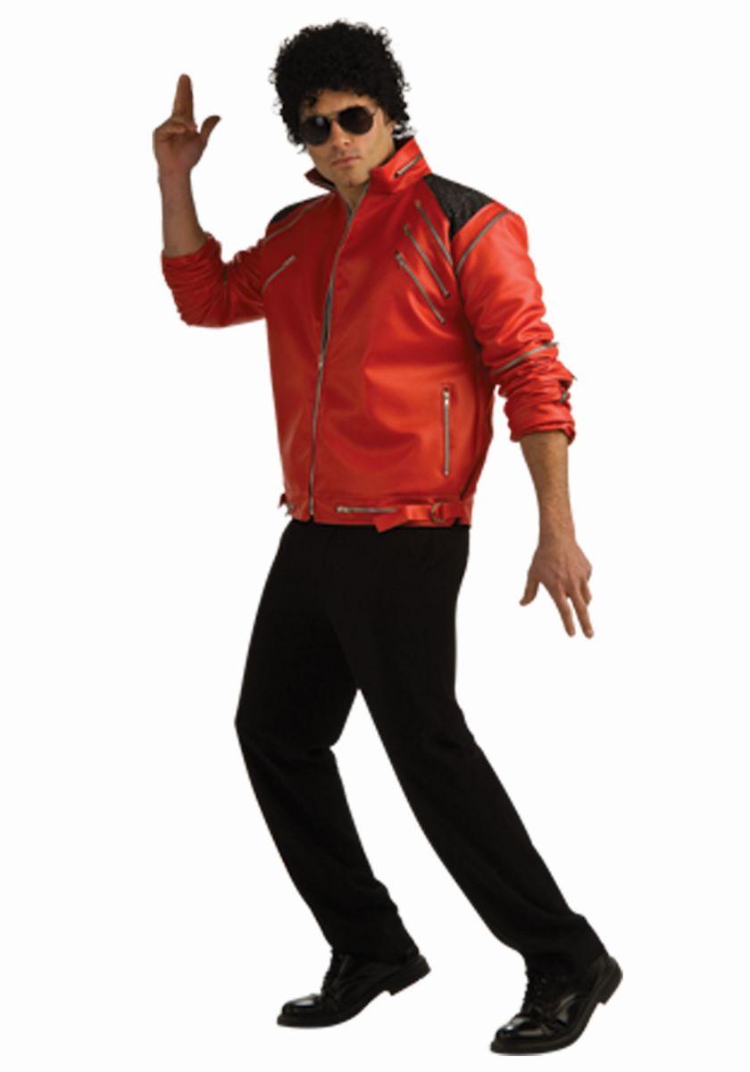 マイケルジャクソン Beat It ジャケット ルービーズ 赤 大人用