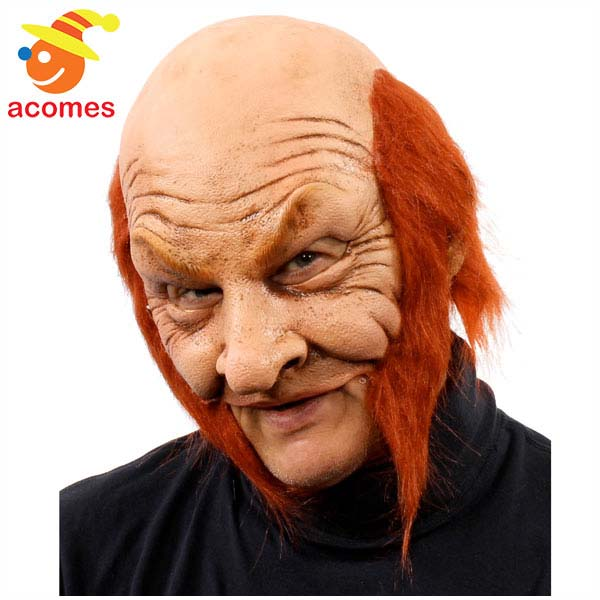 マスク リアル レプラコーン おじさん ヘアー付き 大人用 変装 変身 おっさん オヤジ ハロウィン イベント パーティー