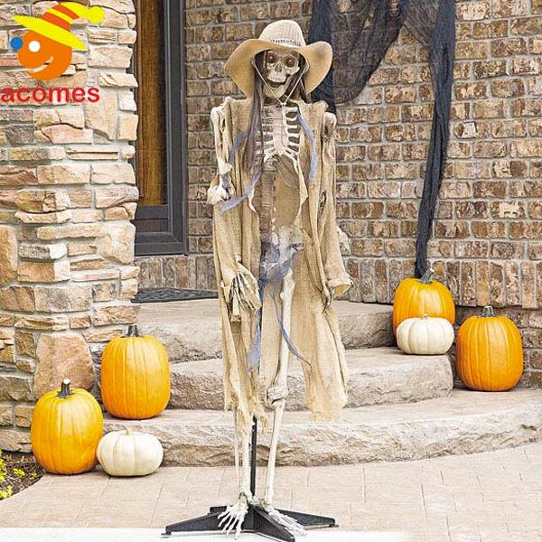 飾り 目が光る カウボーイ ゴースト 人形 骸骨 装飾 デコレーション 不気味 イベント パーティー お化け屋敷 肝試し