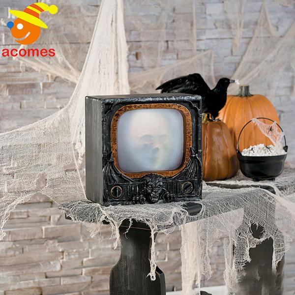 飾り ゴースト テレビ 霊 TV 装飾 デコレーション 不気味 イベント パーティー お化け屋敷 肝試し