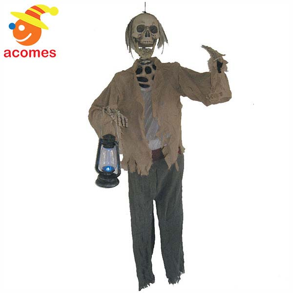 飾り スケルトン 骸骨 人形 装飾 ライトアップ デコレーション 不気味 イベント パーティー お化け屋敷 肝試し