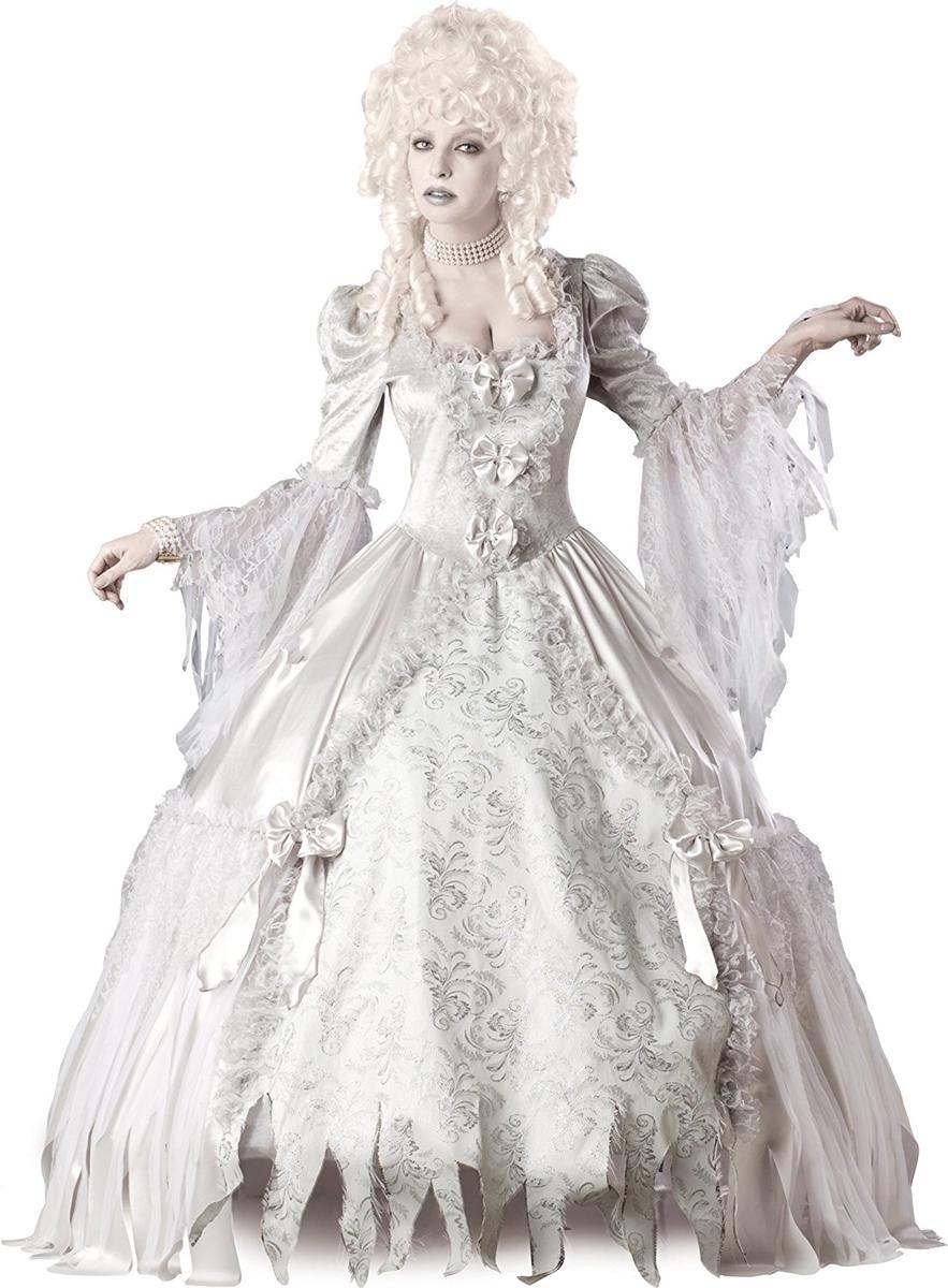 幽霊 ゾンビ 花嫁 コスチューム 衣装 ウェディングドレス 白 ハロウィン ゴス ホラー コスプレ 仮装 大人 レディース