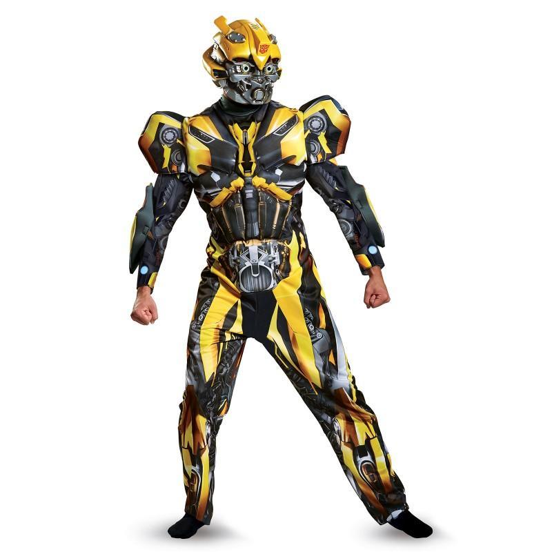 トランスフォーマー 最後の騎士王 グッズ バンブルビー コスチューム 大人 コスプレ 仮装 メンズ デラックス ロボット 映画