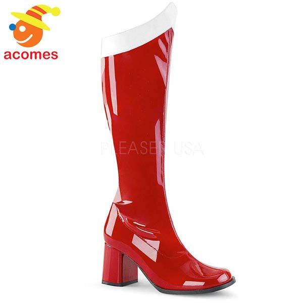 セーラームーン コスプレ ブーツ 赤 レディース 靴 ハロウィン イベント パーティー