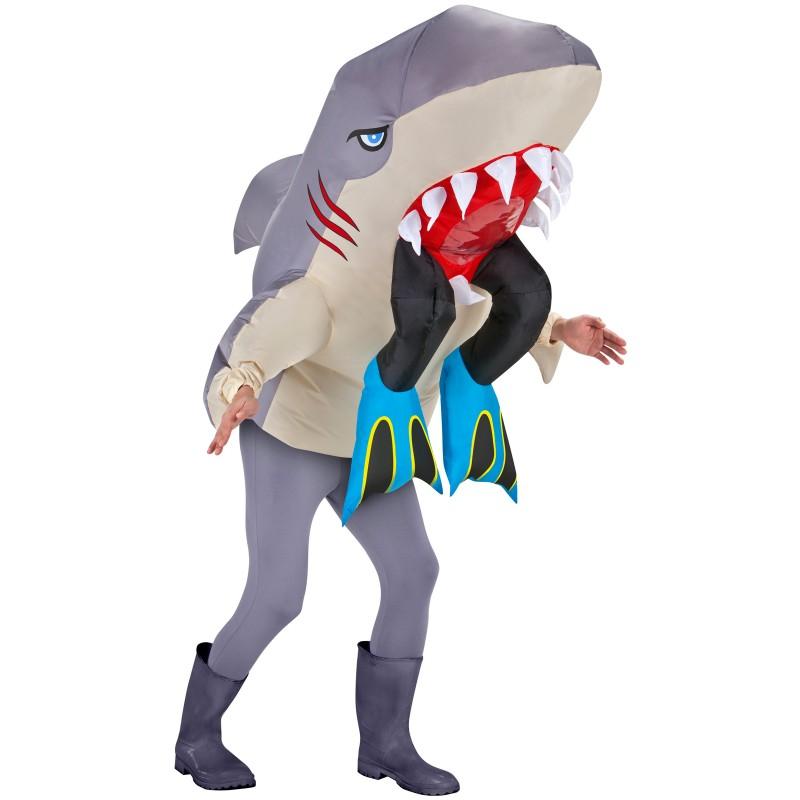 膨らむ コスチューム サメ ジョーズ おもしろコスプレ 動物 きぐるみ 目立つ 派手 仮装