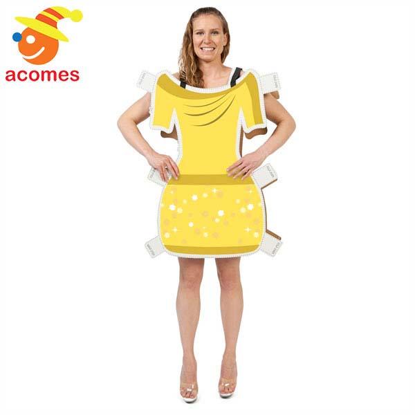 着せ替え 紙人形 衣装 ドレス 大人 コスプレ 面白い ハロウィン コスチューム イベント パーティー