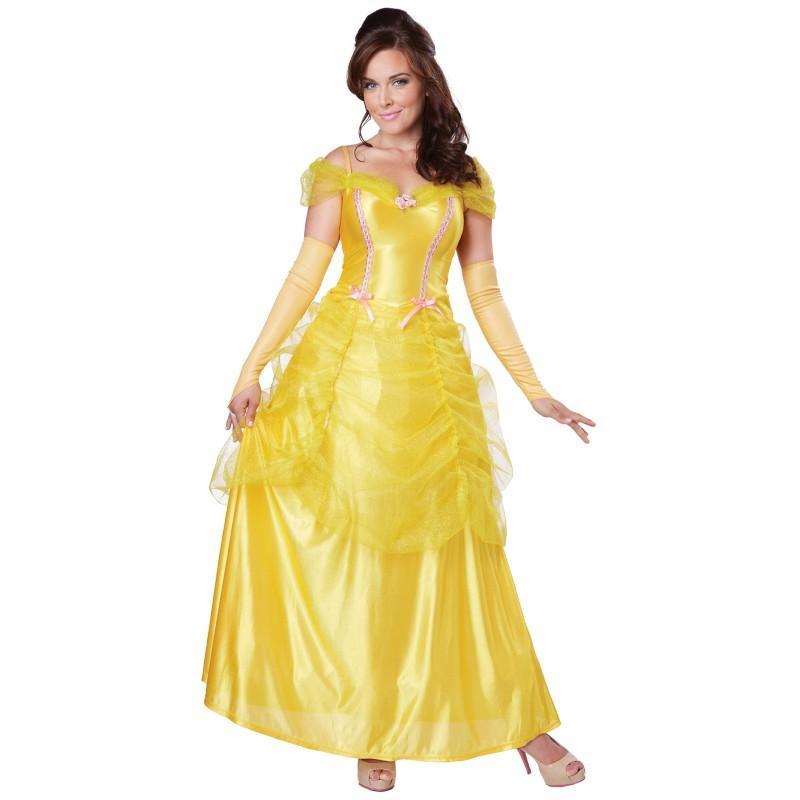 ベル コスプレ 大人 ドレス クラシック コスチューム ハロウィン 衣装 イベント パーティー 美女と野獣