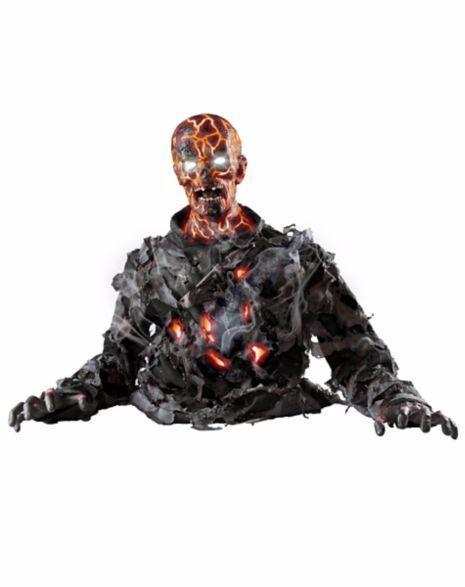 動く ゾンビ 人形 72cm サウンド 置き物 ハロウィン デコレーション インテリア ホラー 恐怖 グッズ