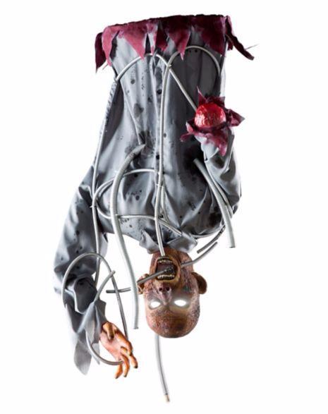 動く ゾンビ 人形 1.5m 電気ショック サウンド 置き物 ハロウィン 吊るす 天井 デコレーション インテリア ホラー 恐怖 グッズ