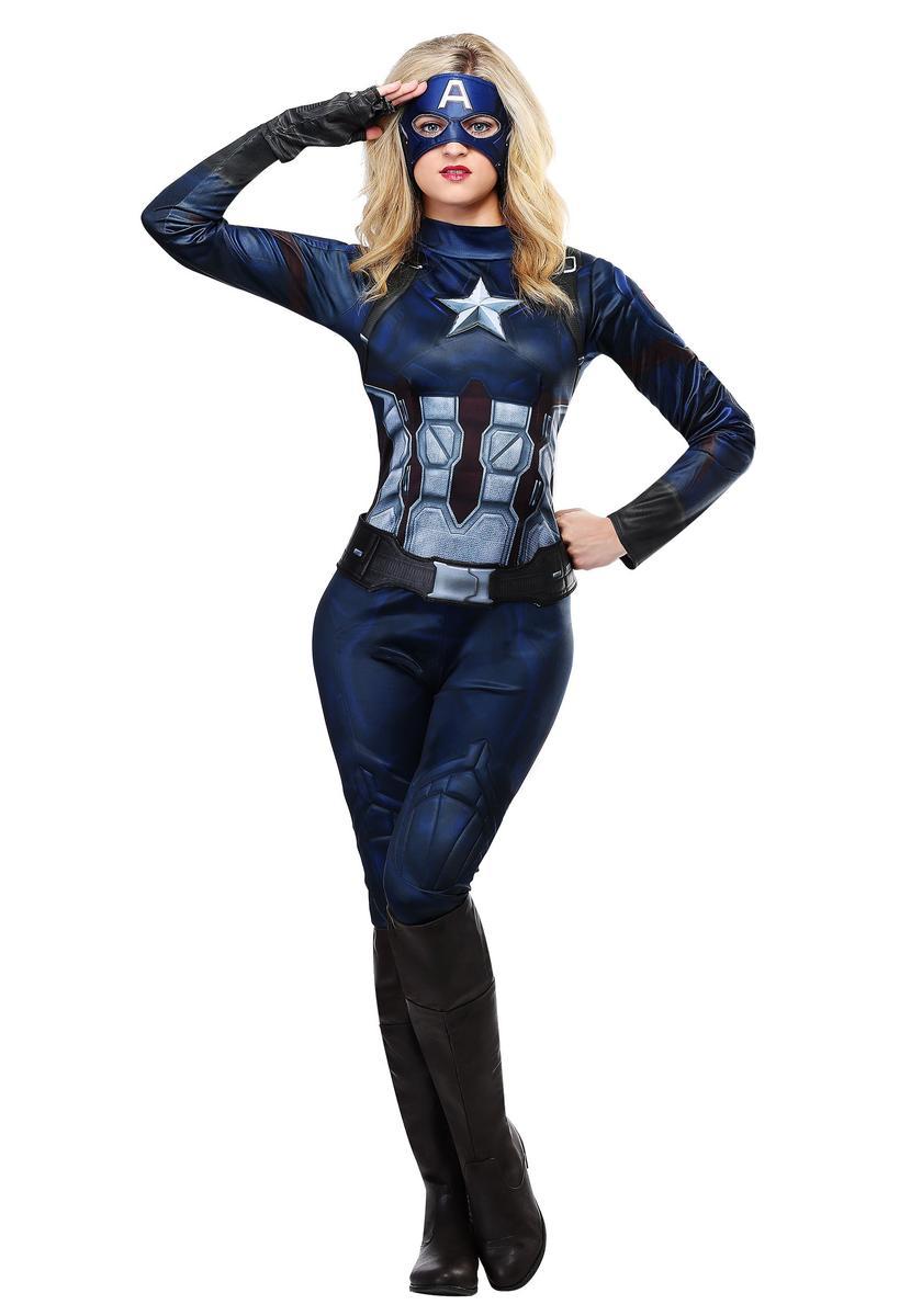 キャプテンアメリカ コスプレ 大人 レディース コスチューム ハロウィン 衣装 イベント 仮装 パーティー アメコミ