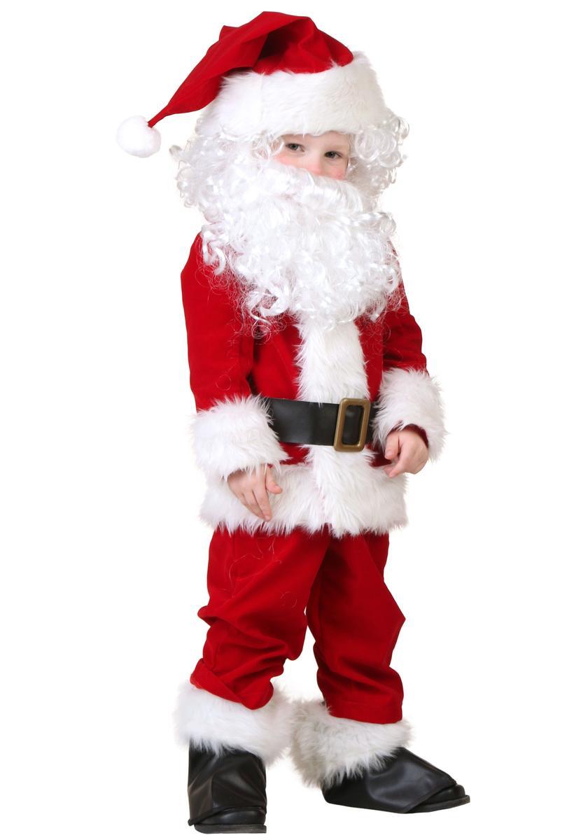 サンタクロース コスチューム 子供 幼児 デラックス コスプレ 衣装 クリスマス 仮装 海外