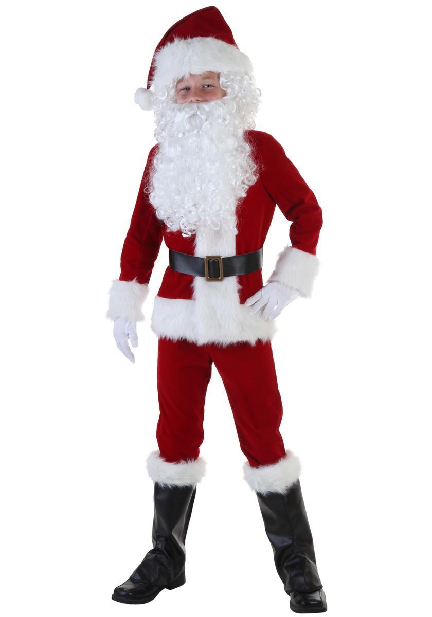 サンタクロース コスチューム 子供 デラックス コスプレ 衣装 クリスマス 仮装 海外