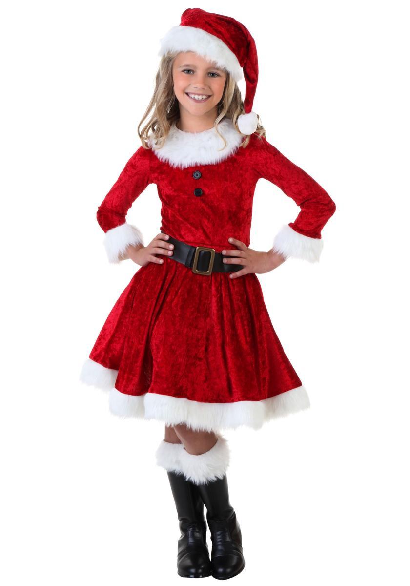 サンタクロース コスチューム 子供 女の子 コスプレ スカート 衣装 クリスマス 仮装 海外