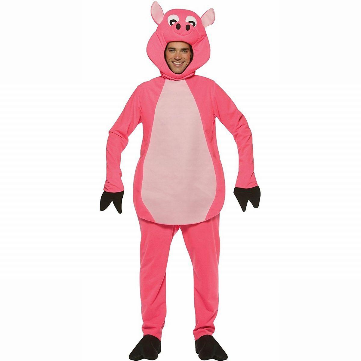ブタ 着ぐるみ コスチューム 大人用 動物 コスプレ 仮装