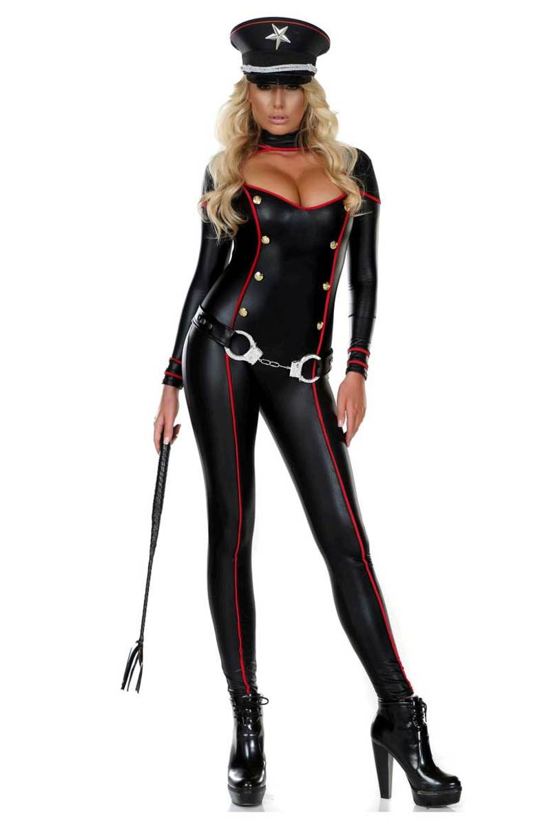 ミリタリー コスプレ コスチューム 黒 キャットスーツ ボディスーツ 大人 女性 レディース セクシー ハロウィン 仮装