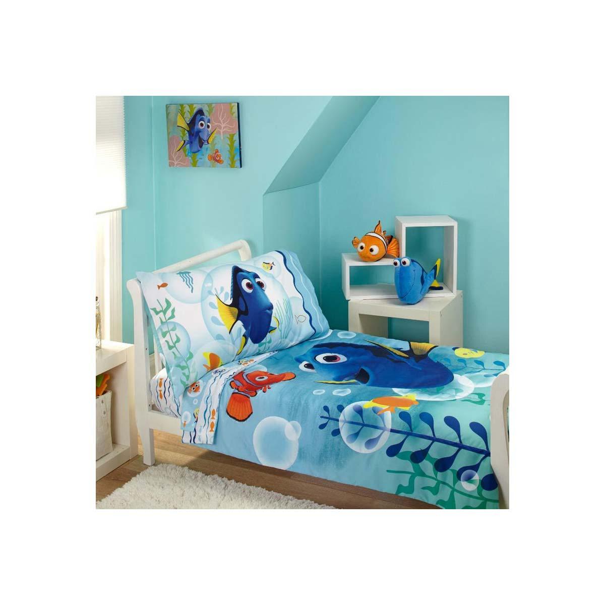 ファインディングドリー フィンディングニモ ベッドカバー 枕カバー ベッドシーツ セット 子供 幼児 寝具 インテリア ディズニー キャラクター グッズ