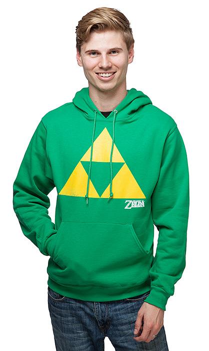 ゼルダの伝説 グッズ トライフォース パーカー メンズ 緑 ゲーム