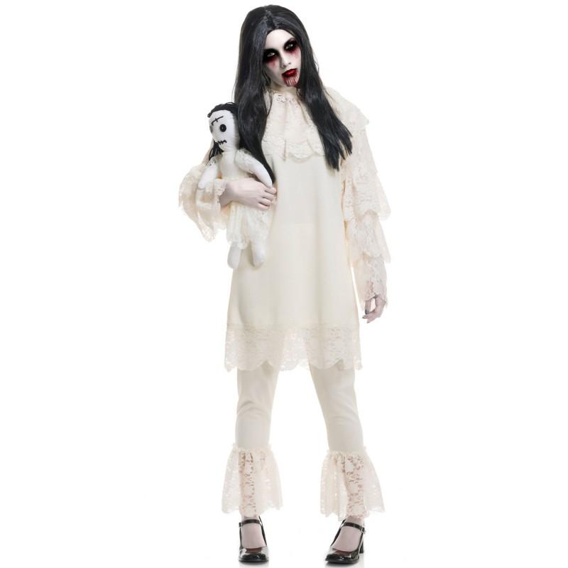 邪悪な人形 コスプレ レディース コスチューム ハロウィン 衣装 イベント 仮装 パーティー 肝試し お化け屋敷