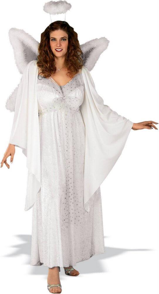 天使 コスプレ コスチューム 衣装 白 大人 大きいサイズ エンジェル 天使の輪 ハロウィン 仮装