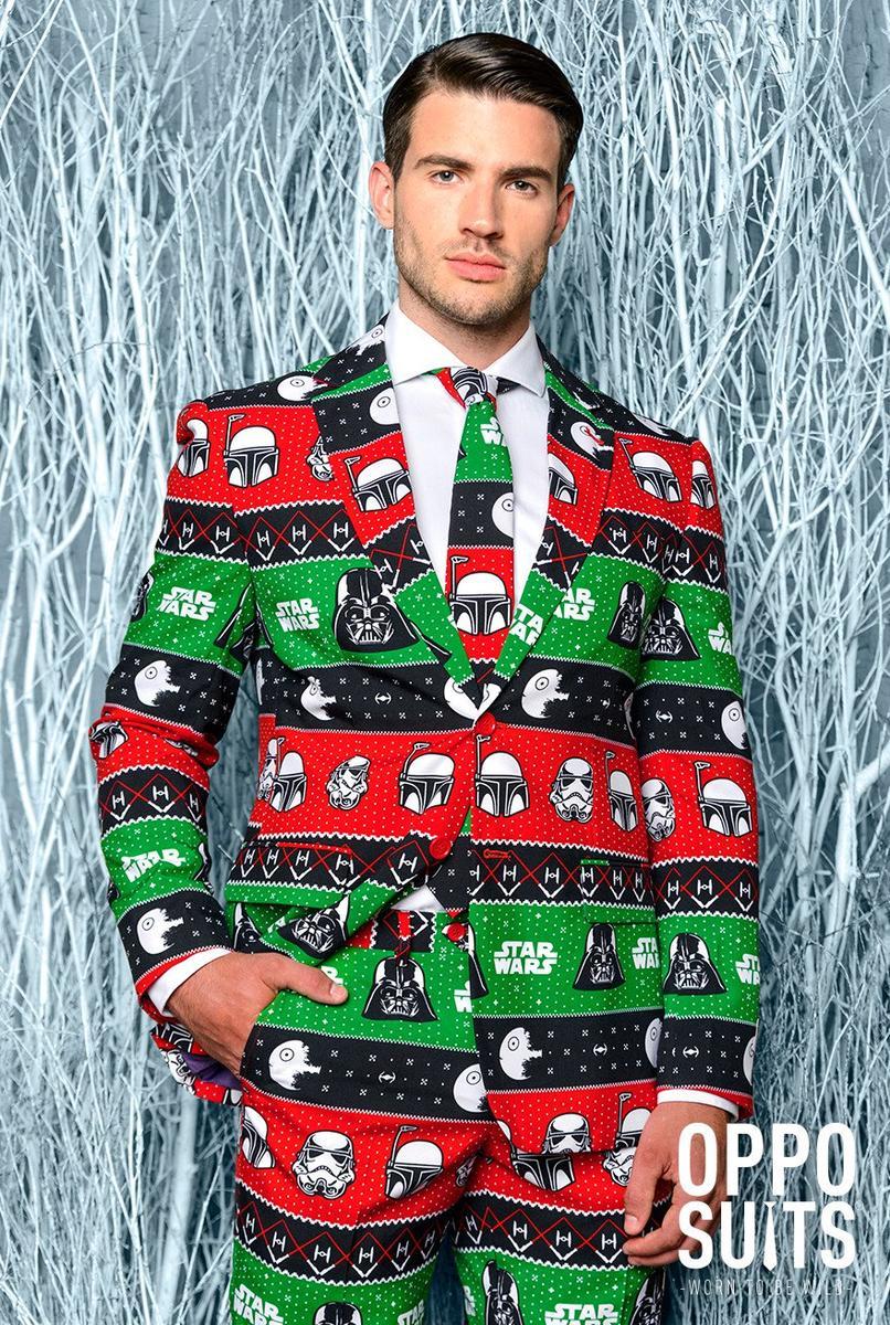 OppoSuits オッポスーツ スターウォーズ クリスマス 赤 緑 メンズ 派手 目立つ 総柄 コスプレ コスチューム 仮装 ファンシースーツ