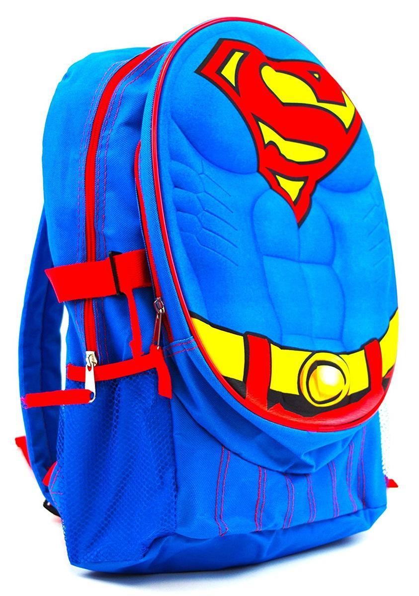 3D 立体 リュック スーパーマン ボディ 子供 かばん アメコミ ヒーロー グッズ