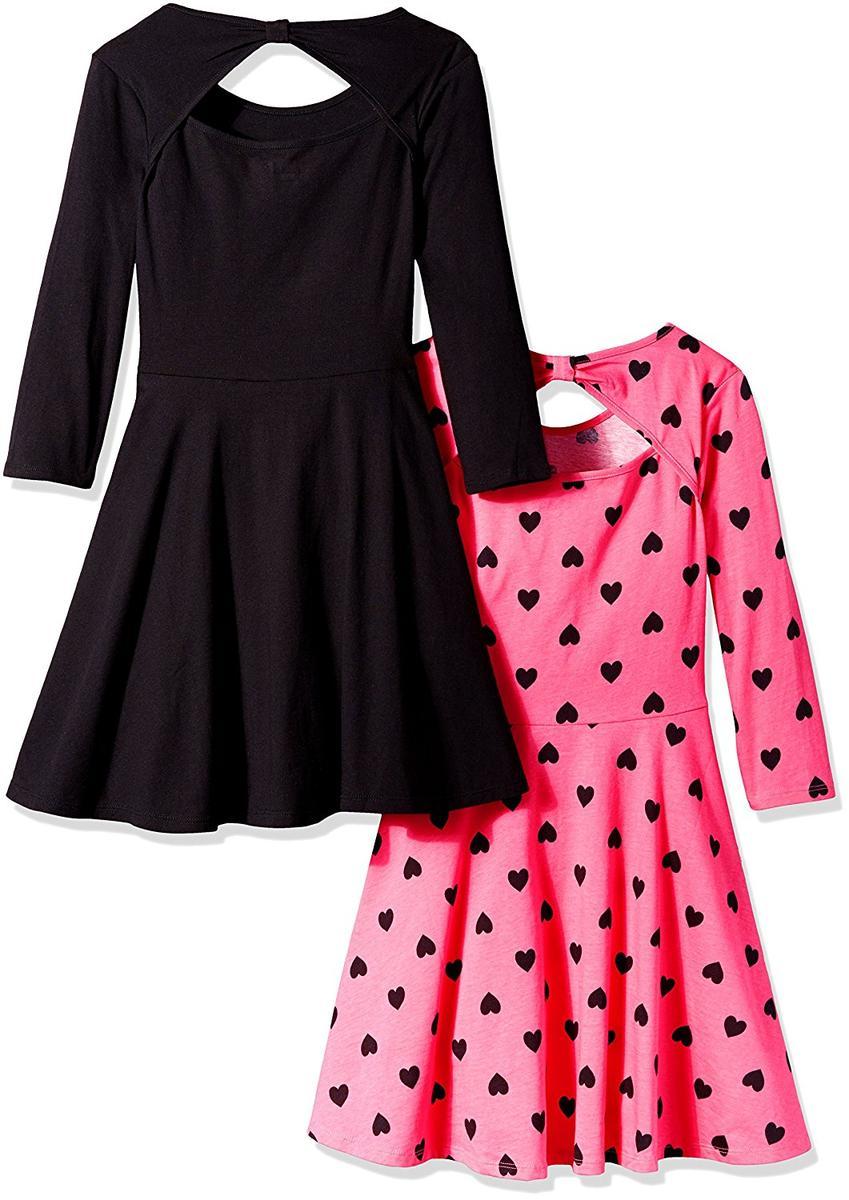素敵な ワンピース 長袖 子供 女の子 黒 ピンク 2着 セット フォーマル