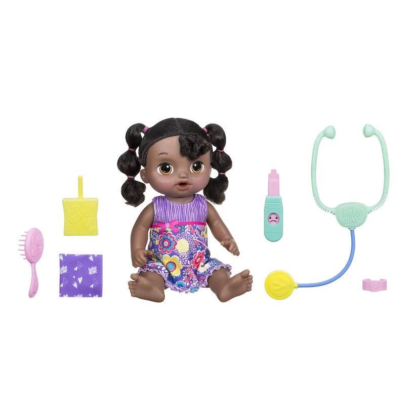 女の子 赤ちゃん 人形 ベビードール Sweet Tears Baby 紫 海外 おもちゃ 話す 英語 スペイン語 学習