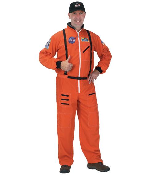 宇宙飛行士 コスチューム コスプレ 衣装 NASA オレンジ 制服 大人 帽子 セット