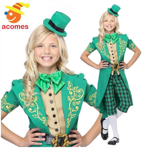 セントパトリック デー 子供 コスチューム ラッキー レプラコーン 衣装 緑 グリーン レプリカン