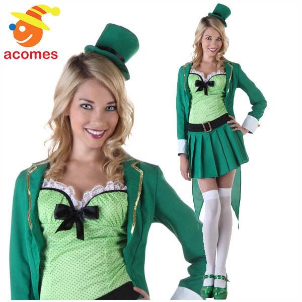 セントパトリック デー 大人 レディース コスチューム ラッキー レプラコーン 衣装 緑 グリーン レプリカン 緑
