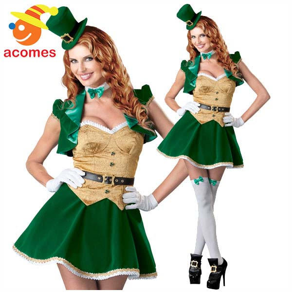 セントパトリック デー 大人 レディース ラッキー コスチューム 衣装 緑 グリーン レプリカン