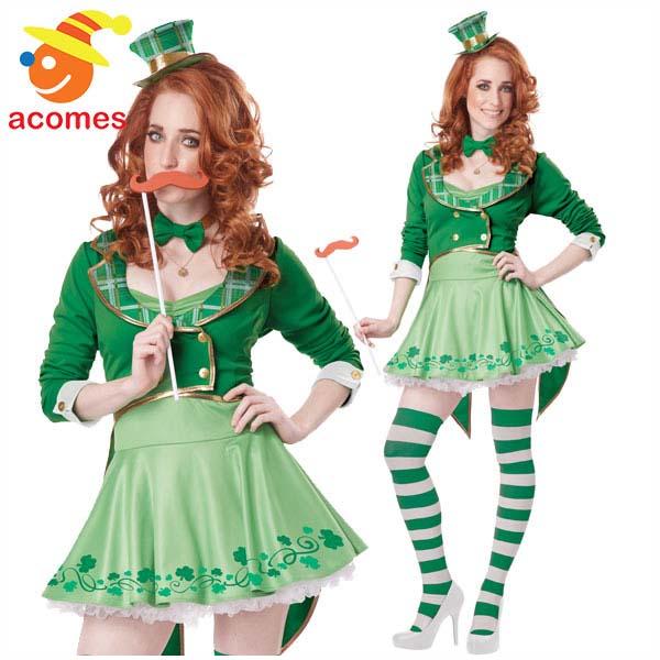 セントパトリック デー 大人 レディース ラッキー チャーム コスチューム 衣装 緑 グリーン レプリカン