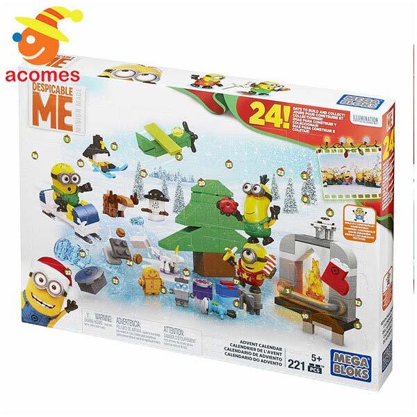 ミニオン メガブロック ムービー アドベンチャー カレンダー 221 ピース おもちゃ ギフト 子供 プレゼント
