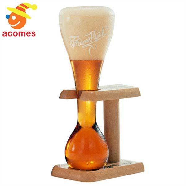 ビール グラス コップ パウエル クワック ベルギー 木製 スタンド付き 2セット