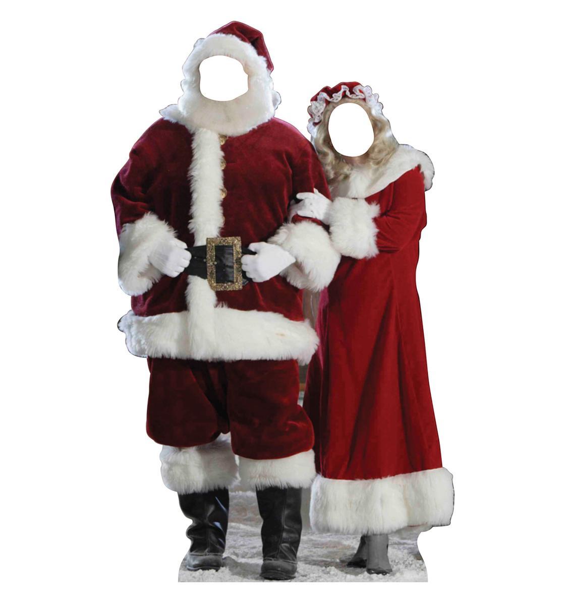 顔ハメ看板 顔出しパネル サンタクロース ペア カップル クリスマス 飾り 等身大パネル インテリア デコレーション