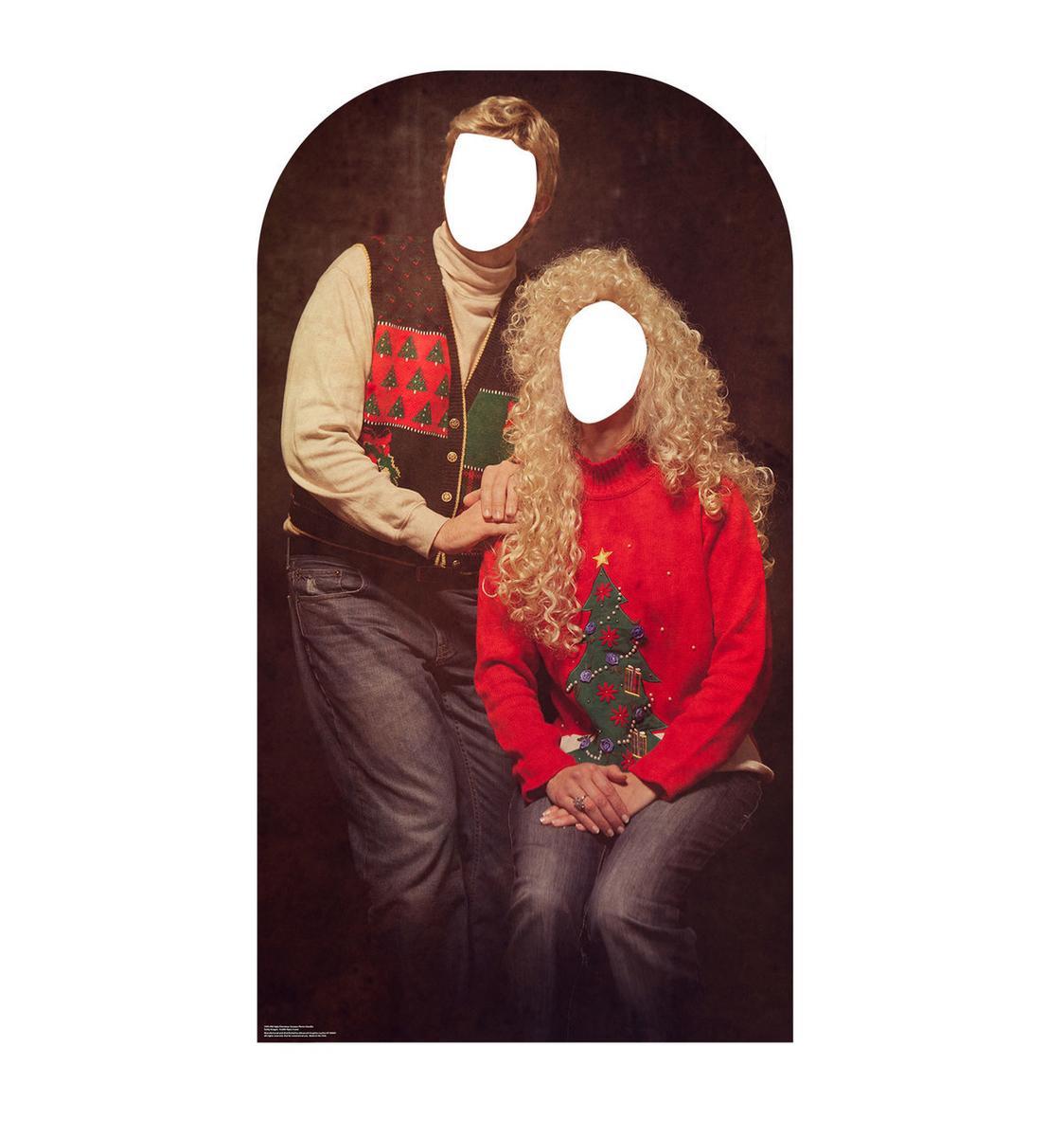 顔ハメ看板 顔出しパネル アグリーセーター ペア カップル クリスマス 飾り インテリア デコレーション