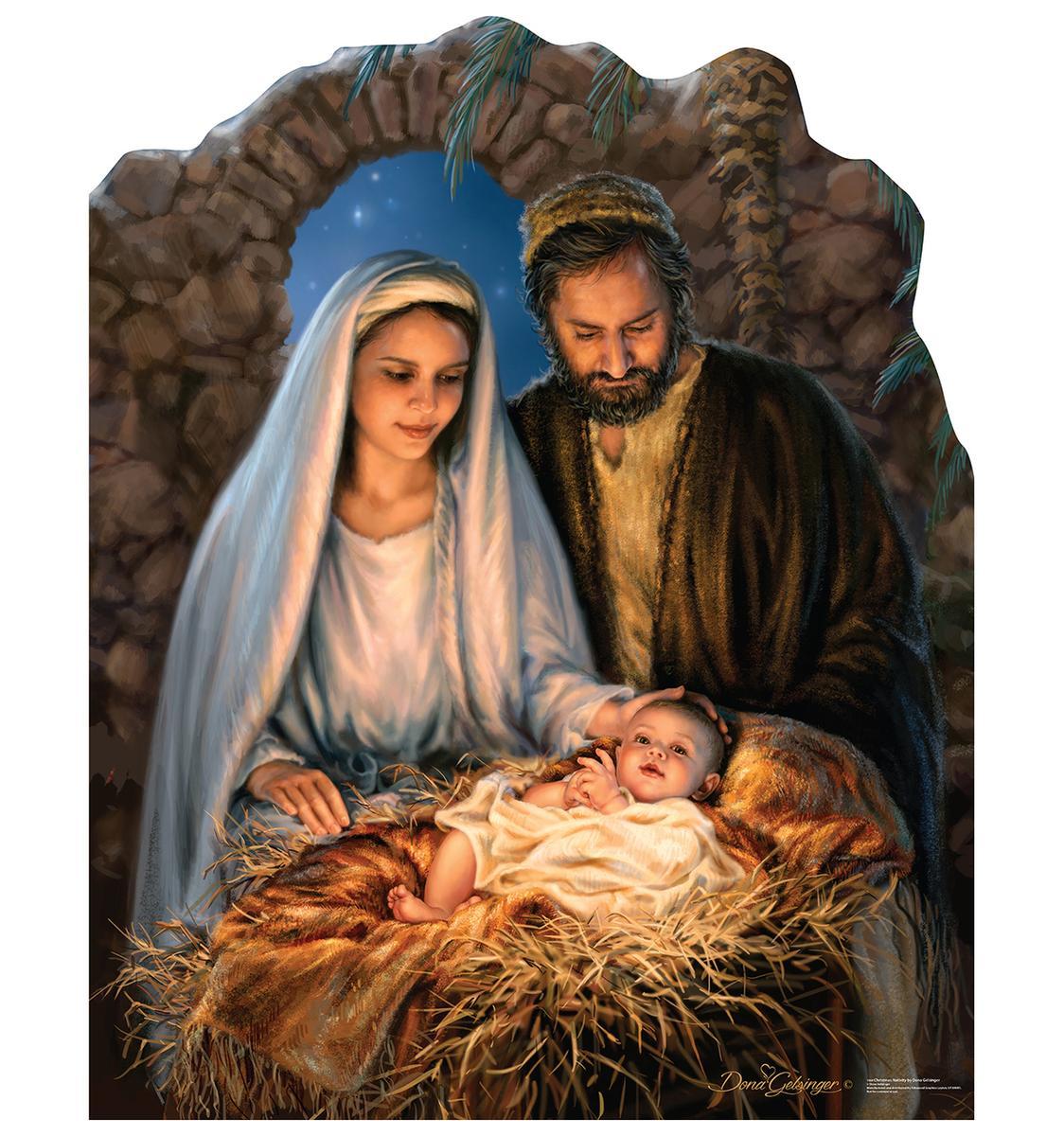 マリア ヨセフ イエス キリスト 生誕 等身大 パネル クリスマス キリスト教 飾り インテリア デコレーション