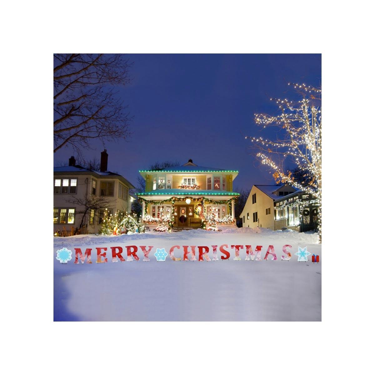 クリスマス 屋外 飾り インテリア デコレーション Merry Christmas 看板 ヤードサイン