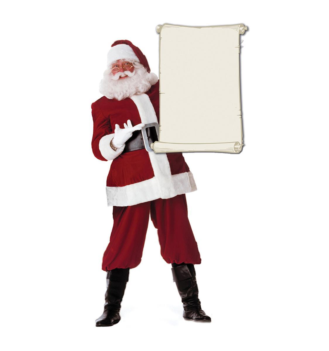 巻物 サンタクロース 等身大 パネル クリスマス 飾り インテリア デコレーション