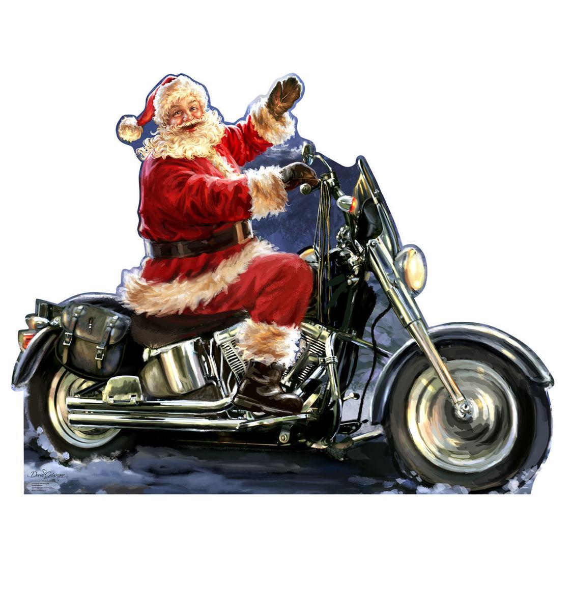 バイク サンタクロース 等身大 パネル クリスマス 飾り インテリア デコレーション