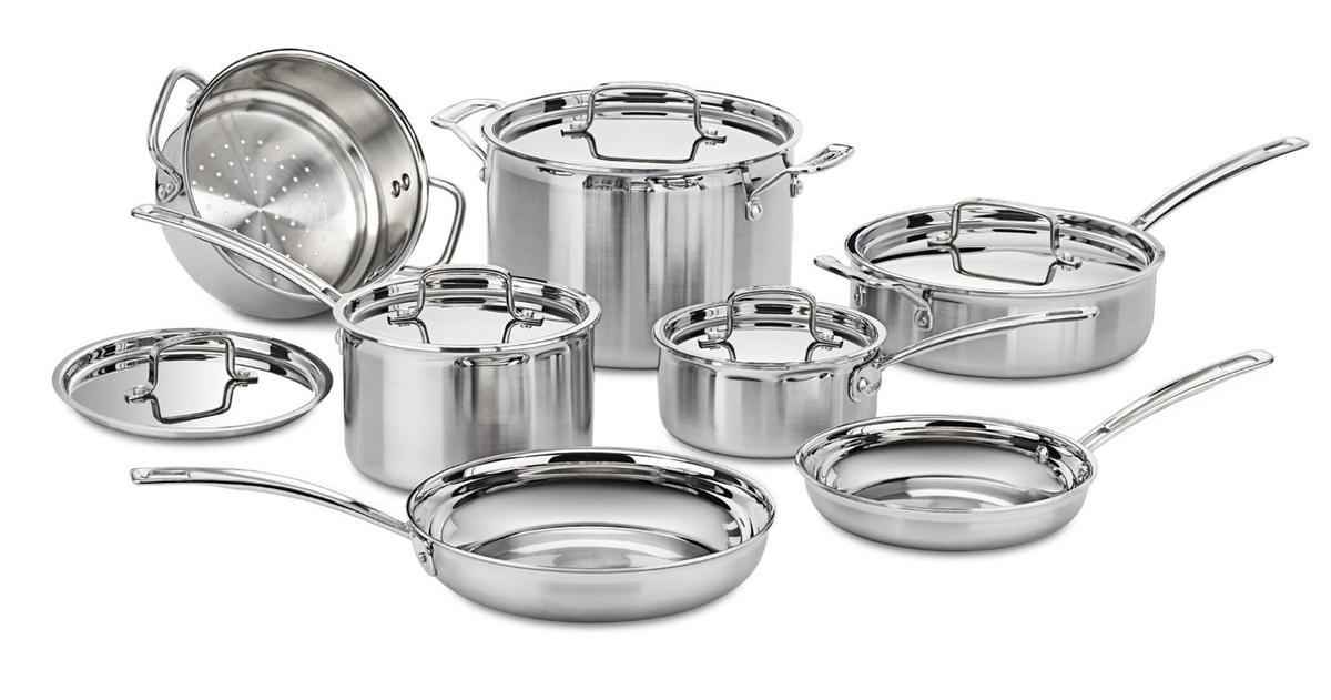 Cuisinart クイジナート ステンレス 鍋 フライパン 7種類 セット 海外 キッチン用品