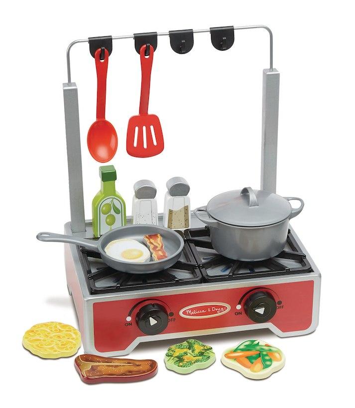 Melissa & Doug メリッサ&ダグ キッチン 台所 ままごと セット 17パーツ 木製 調理 料理 海外 玩具