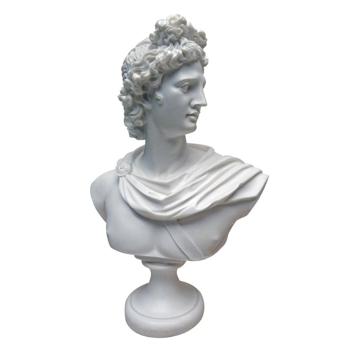 アート インテリア 飾り 彫刻 オブジェ 石像 置物 ギリシャ神話 アポロ