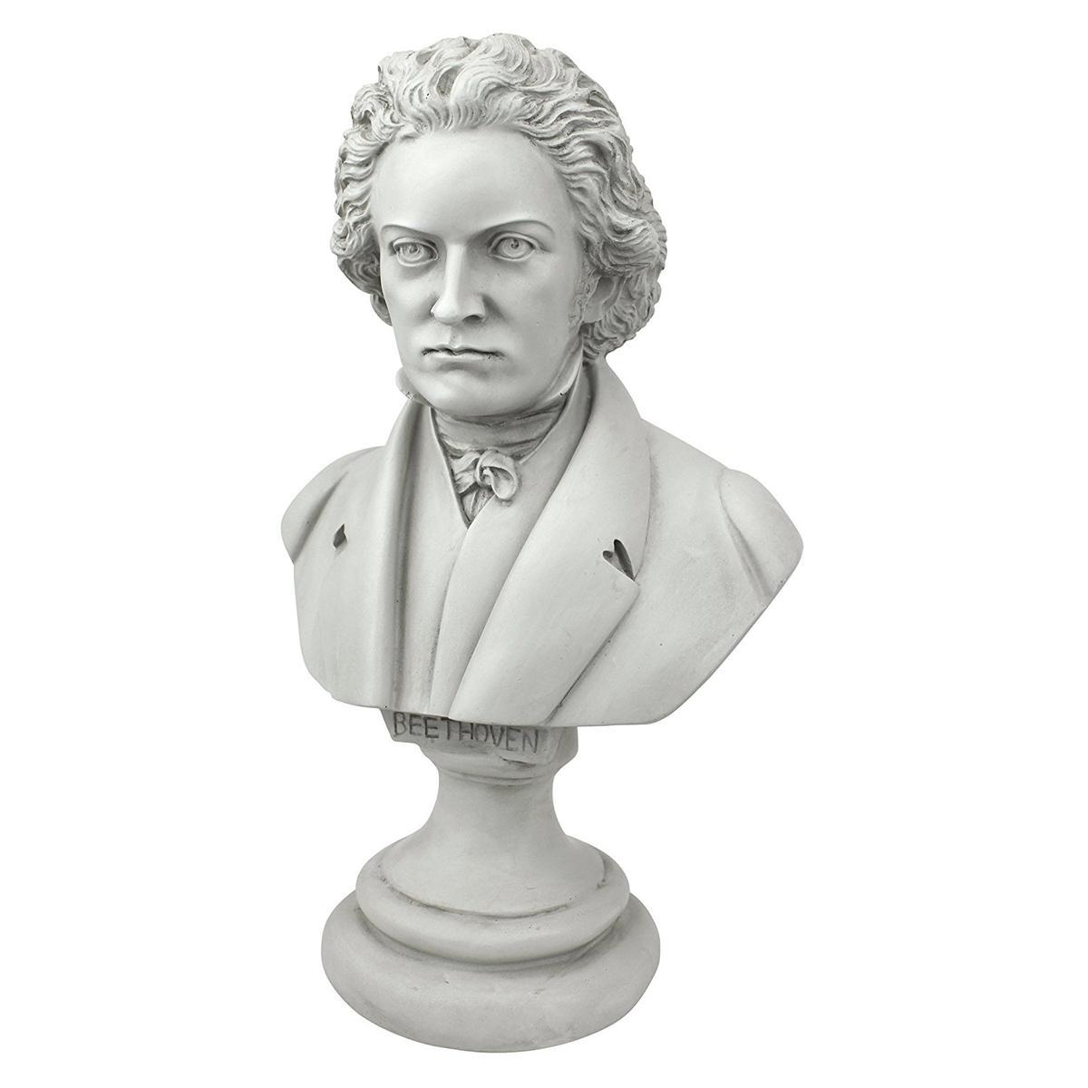 アート インテリア 飾り 彫刻 オブジェ 石像 置物 音楽家 ベートーベン