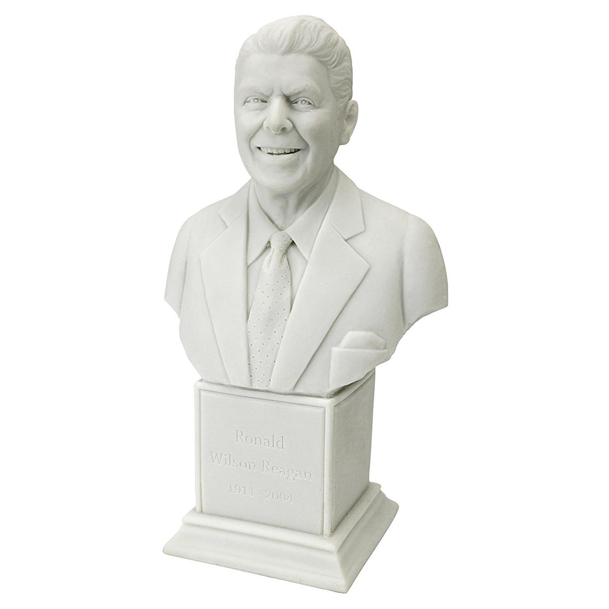 アート インテリア 飾り 彫刻 オブジェ 石像 置物 ロナルド レーガン アメリカ 政治家 大統領