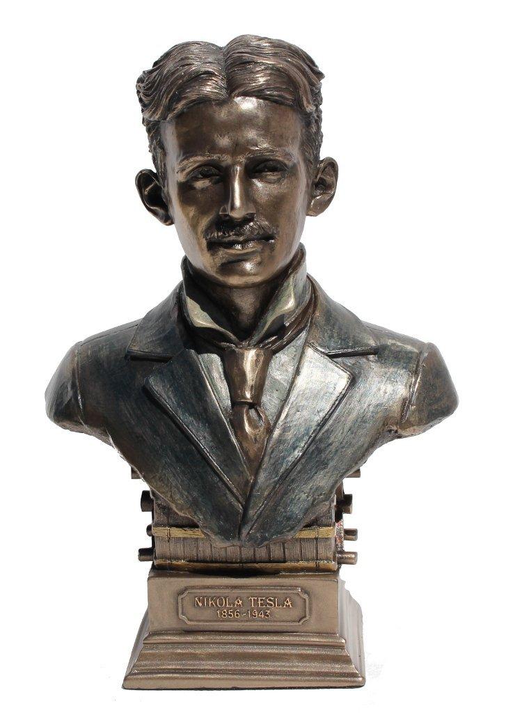 アート インテリア 飾り 彫刻 オブジェ ブロンズ 銅像 置物 ニコラ テスラ 科学者 発明家