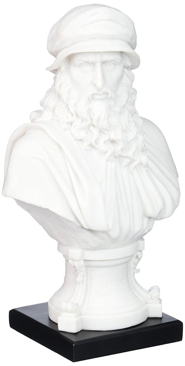 アート インテリア 飾り 彫刻 オブジェ 石像 置物 レオナルド・ダ・ヴィンチ 画家