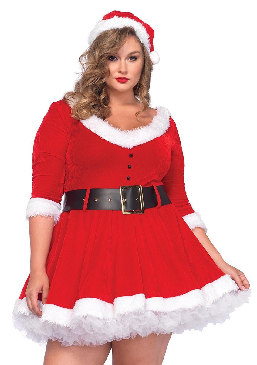 サンタクロース コスチューム 大人 女性 レディース 大きい プラスサイズ クリスマス コスプレ 仮装