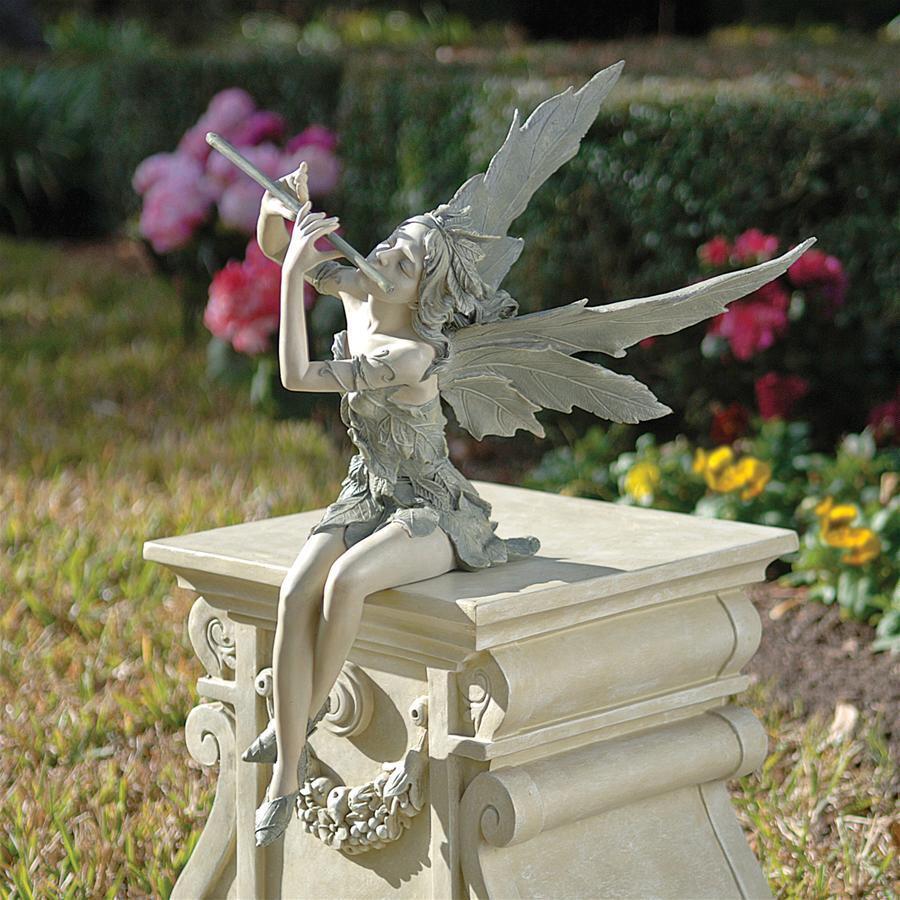 笛吹き 妖精 アート 彫刻 ホーム インテリア エクステリア 屋外 庭 ガーデン 飾り 石像 オブジェ